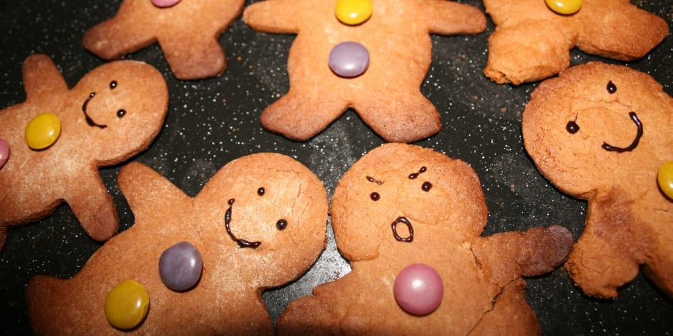 Burned gingerbread cookies