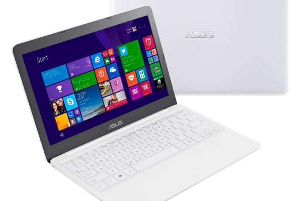 The Asus EeeBook X205 in white