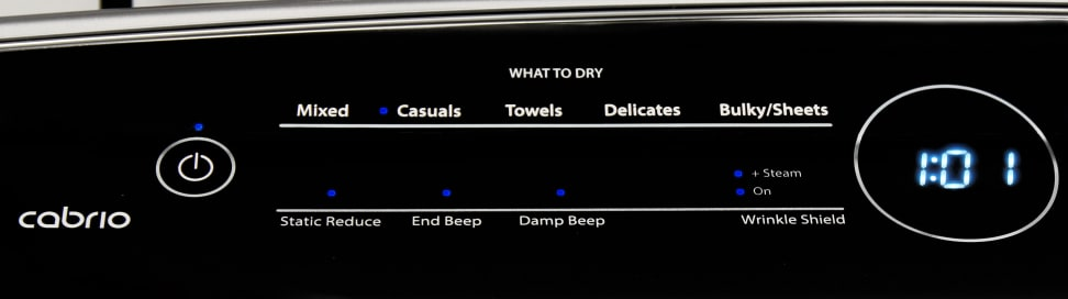 Whirlpool Cabrio WED7300DW Cycles