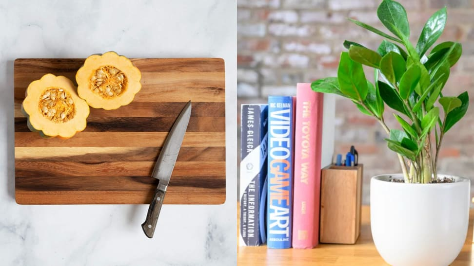 Cutting board and plant from the Sill