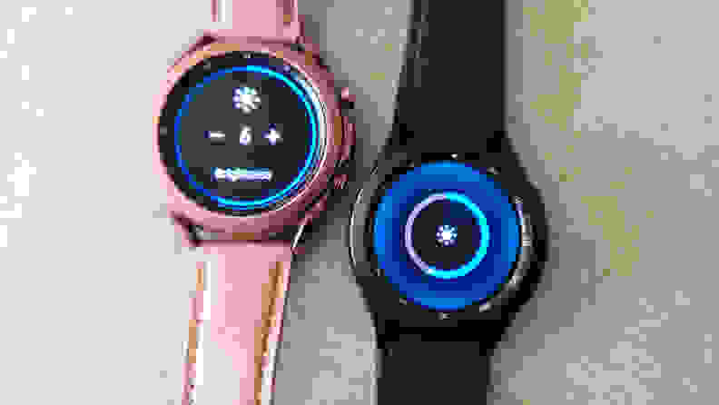 Two smartwatches side by side