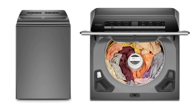 The Whirlpool WTW8127LC on a white background