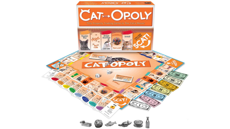 An image of the game Monopoly themed for cats: Cat-Opoly.