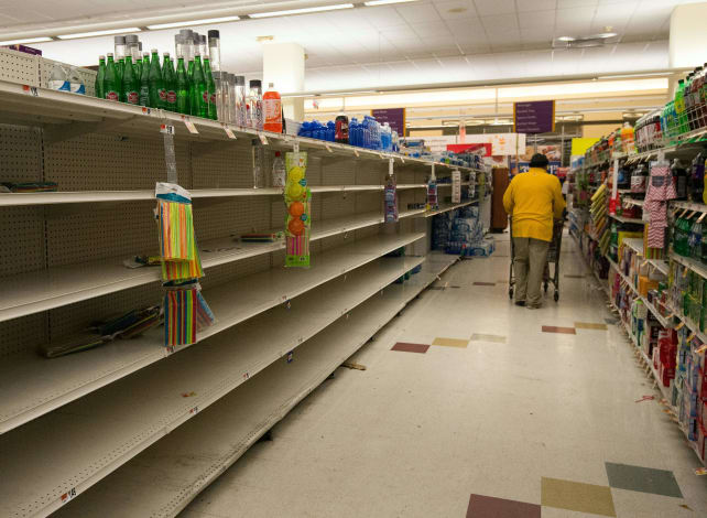 Supermarkets in a storm