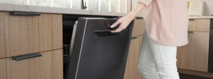 Bosch black stainless steel kitchen dishwasher