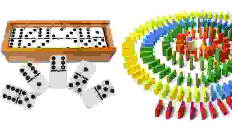 Dominoes and Domino blocks
