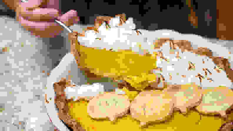 The best pumpkin pie with scorched meringue