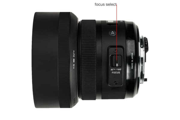 A side view of the 30mm f/1.4 DC HSM A.