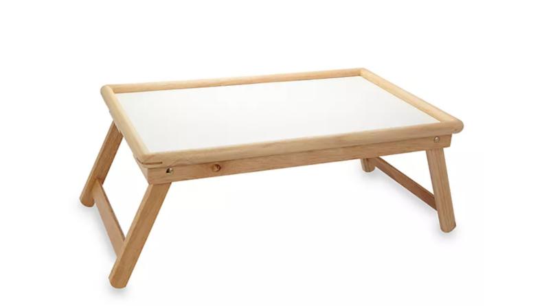 Folding tray.