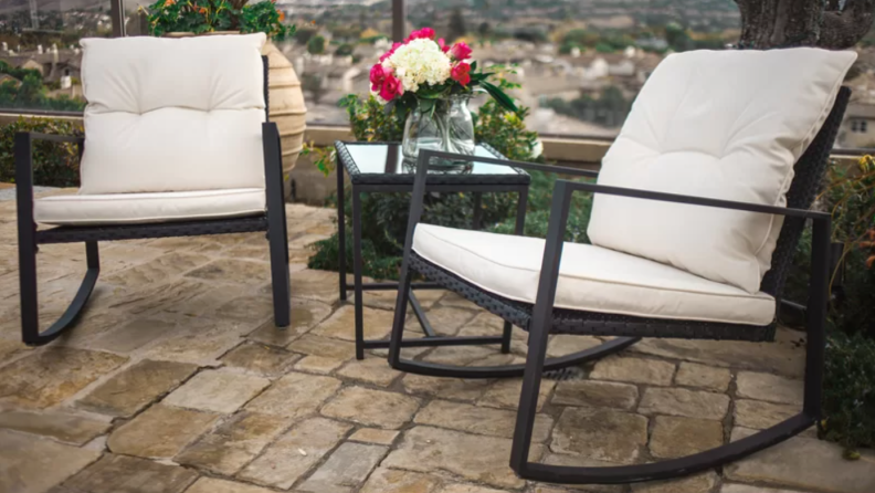 Rosalind Wheeler Kinzie Outdoor 3 Piece Bistro Set