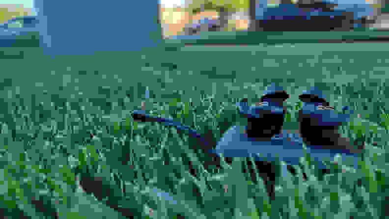 grass off center