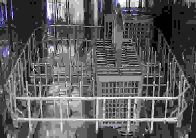 Kenmore Elite 14683—Closeup of Bottom Rack