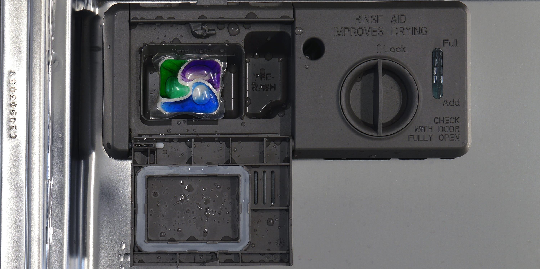 KitchenAid KDTE304DSS dispenser with tab