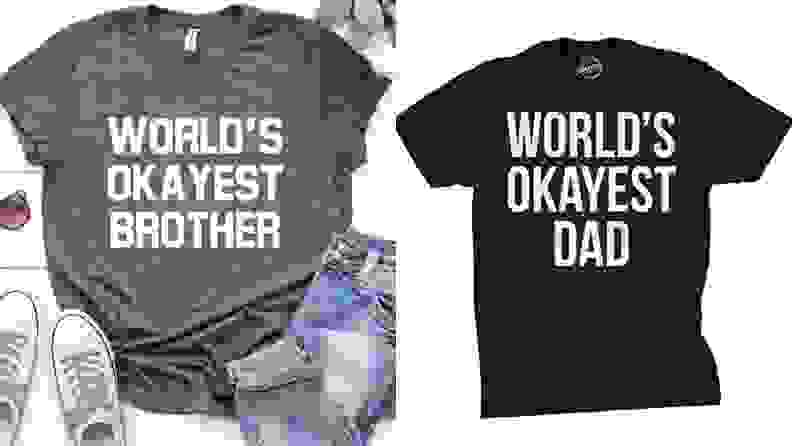 Two T-shirts: One saying