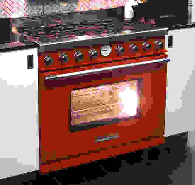 Tecnogas Superiore Deco 36-inch Bright Red Range