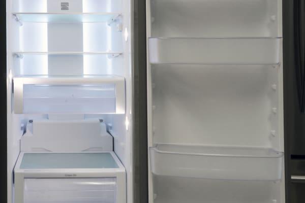 fridge interior and door
