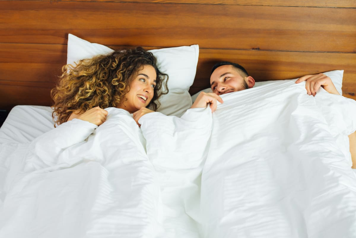 This comforter has a warm side and a cool side—and could save your relationship