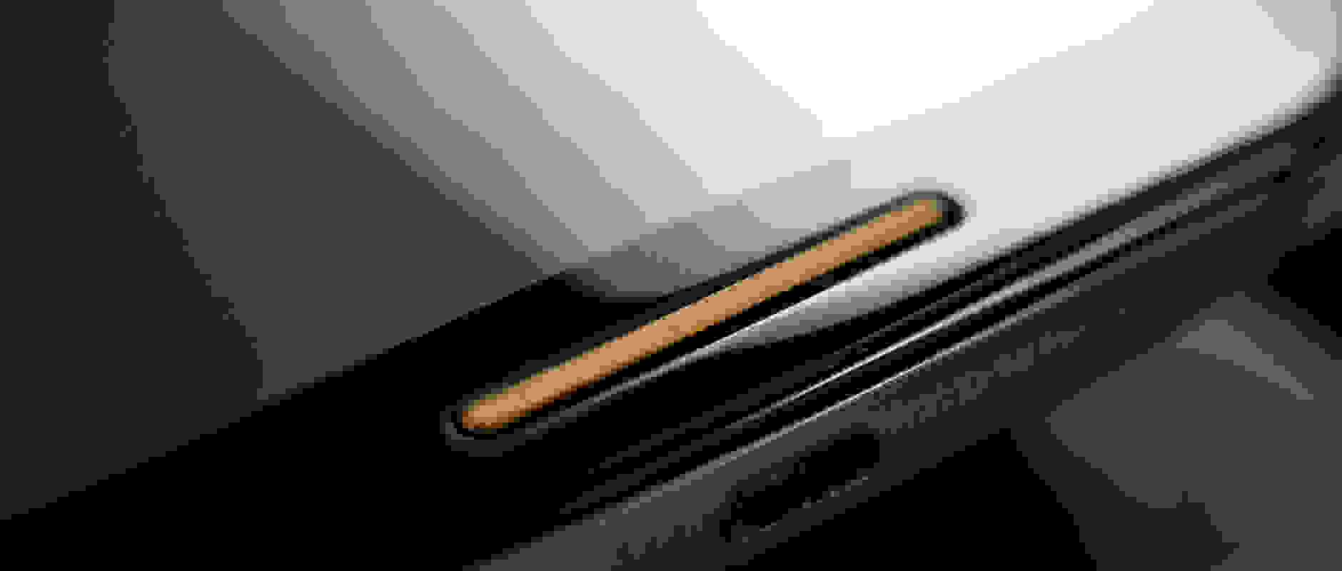 The speaker grille of the Motorola Moto X (2014 edition).