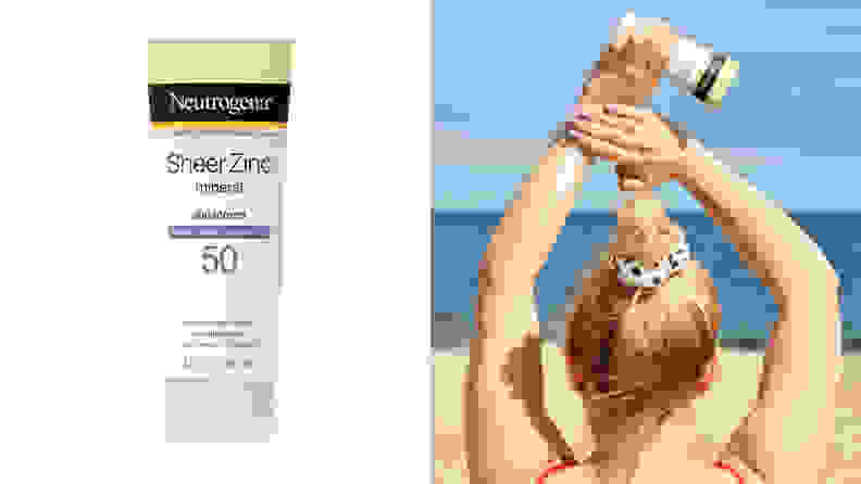 Neutrogena Sheer Zinc Sunscreen Lotion SPF 50