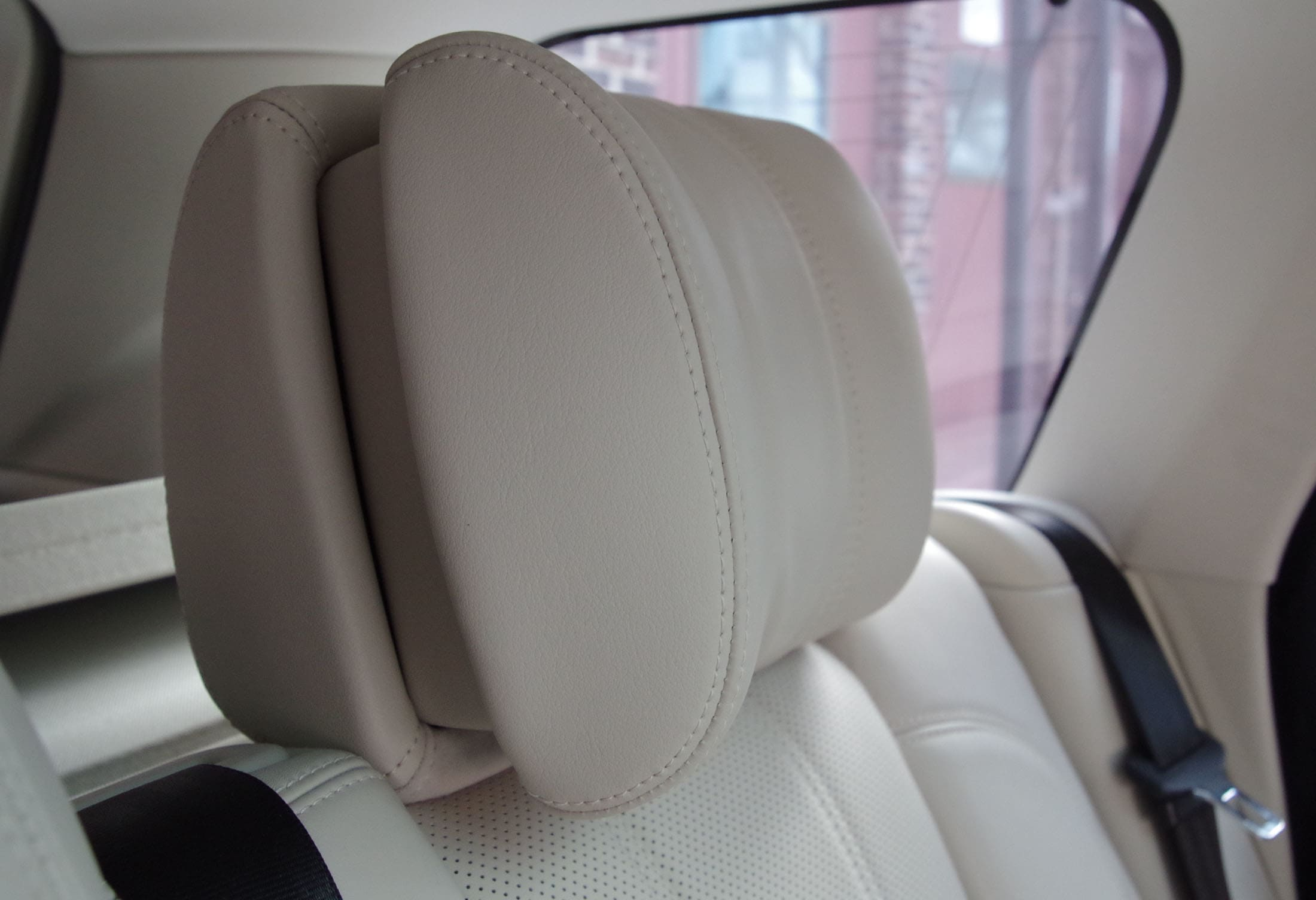 Adjustable headrests are comfortable.