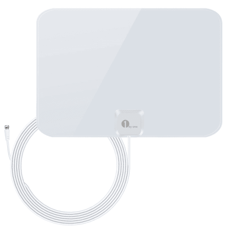 1byone TV Antenna 50 Mile Range Amplified HDTV Antenna with Detachable Am..