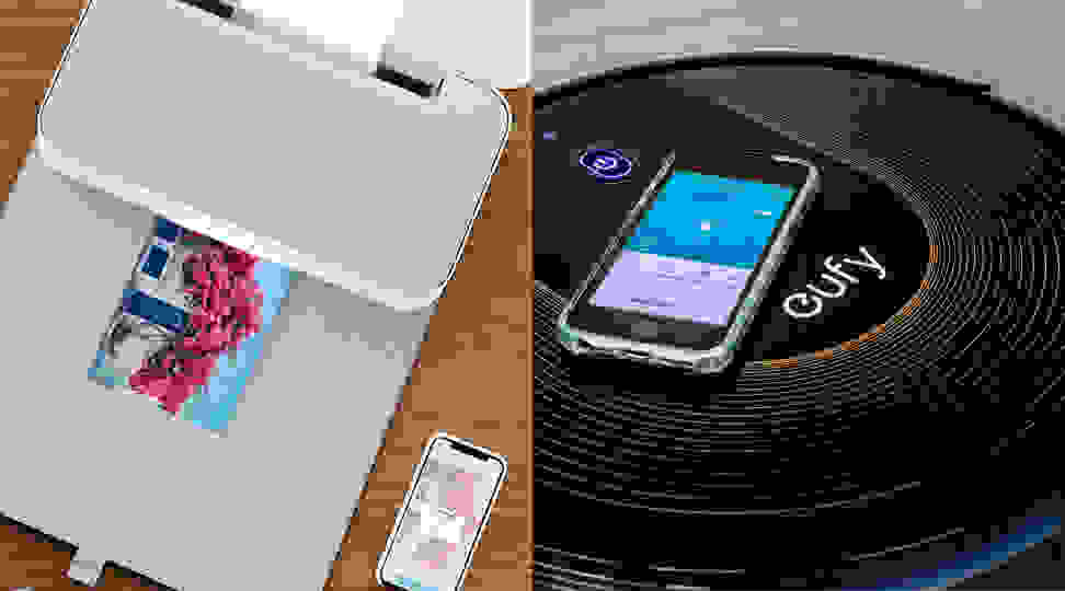 HP Tango Smart Printer and the Eufy BoostIQ RoboVac 30C