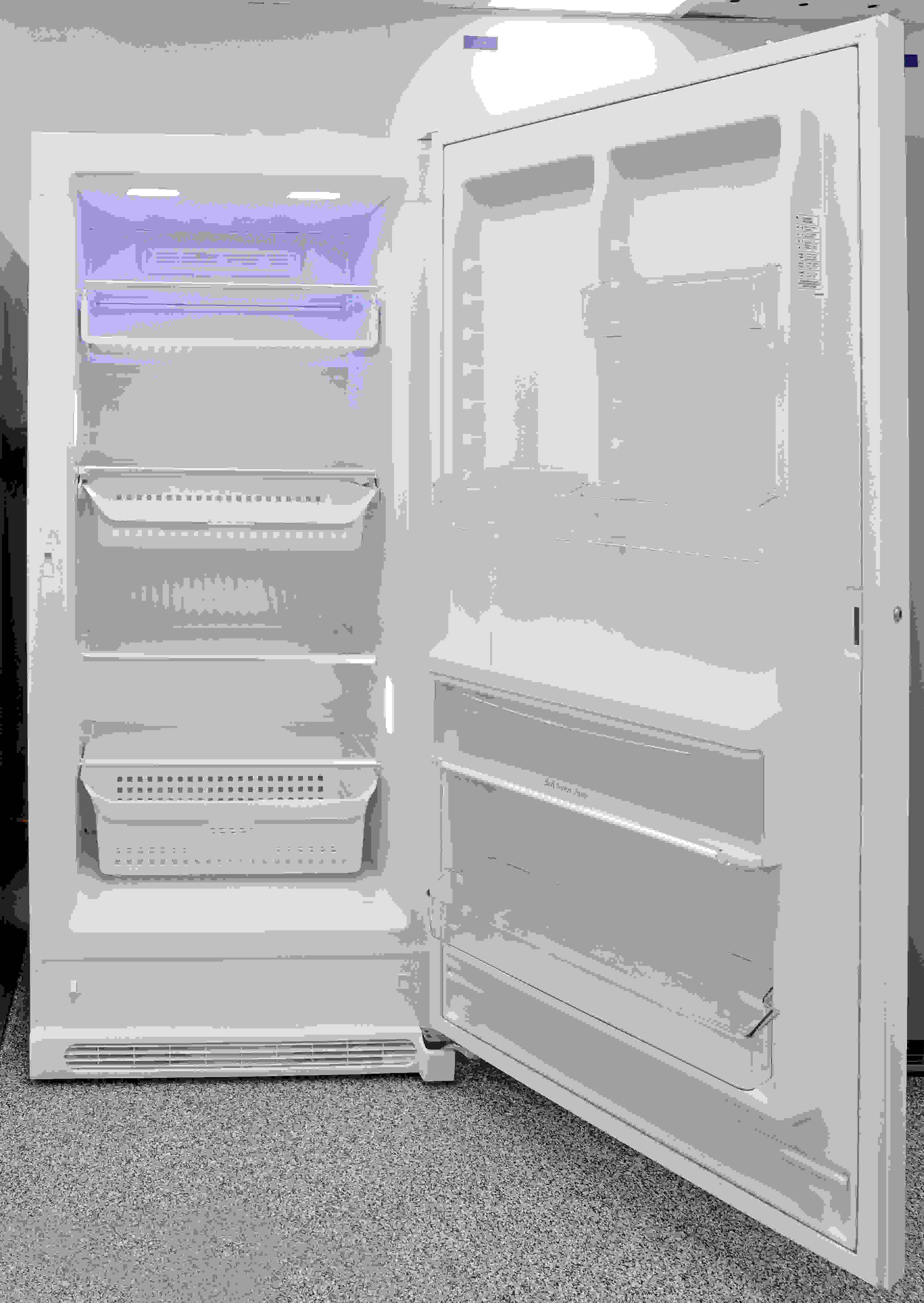 The Frigidaire FFFH21F6QW's well-lit, flexible storage is great if you need a freezer that you'll be using regularly.