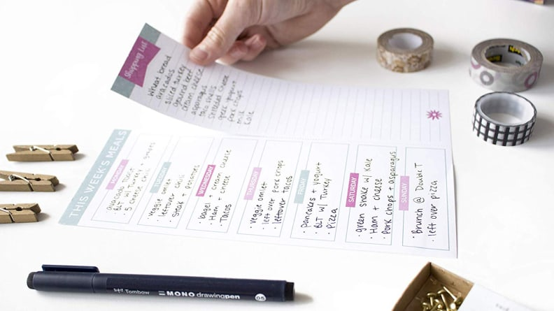 Bloom Daily Planners Weekly Meal Planning Pad