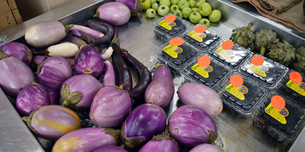 """Ugly"" produce at Daily Table in Dorchester, Massachusetts"