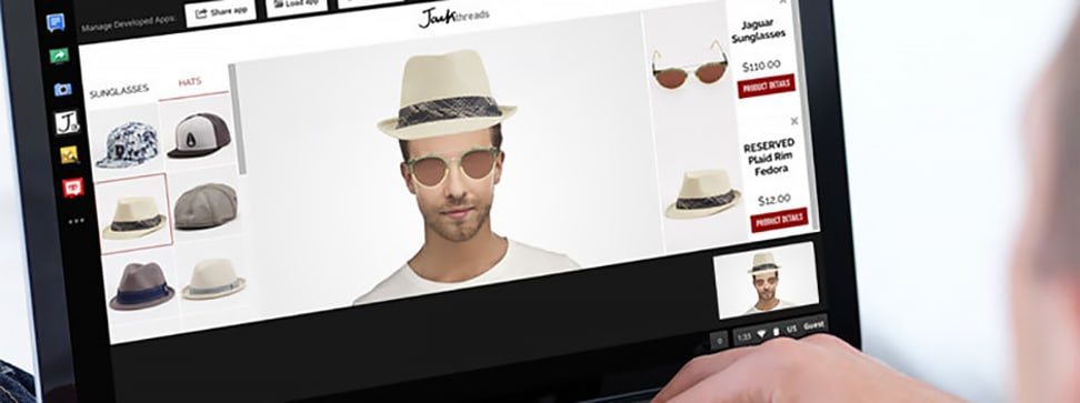 JACKcessories is a first stab at a new way of trying on clothes—online.
