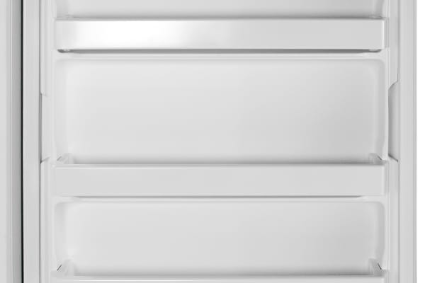 All of the Whirlpool EV160NZTQ's door shelves are fixed in place.