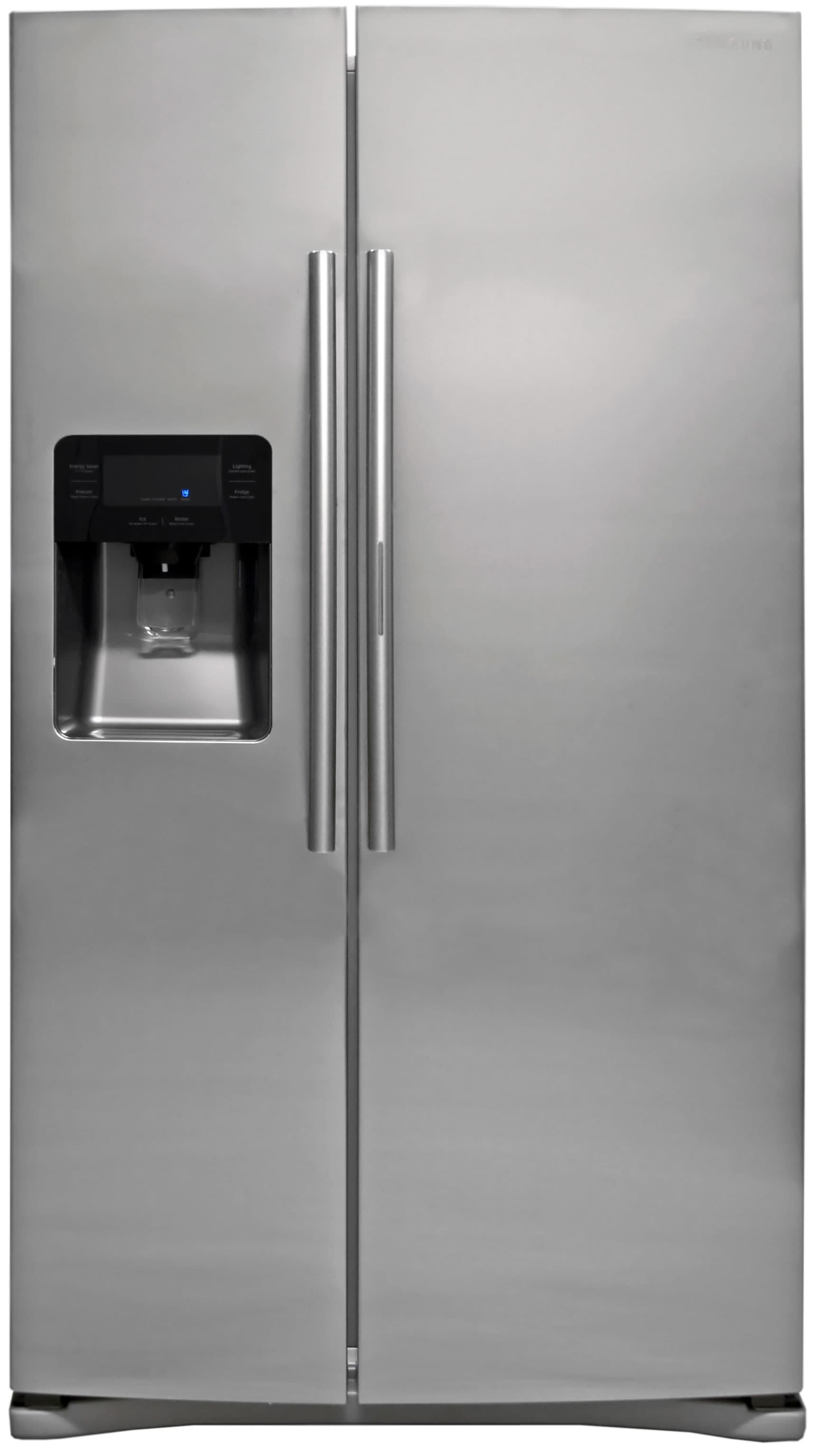 The Samsung RH25H5611SR is a straightforward side-by-side... with door-in-door storage!