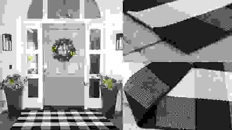 Mubin cotton plaid rug