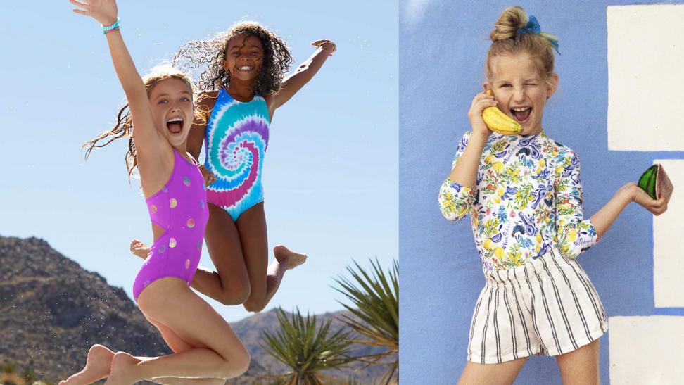 Kids in swimwear