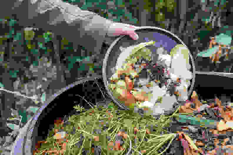 Composting outdoors