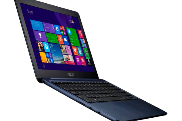 The Asus EeeBook X205 in black