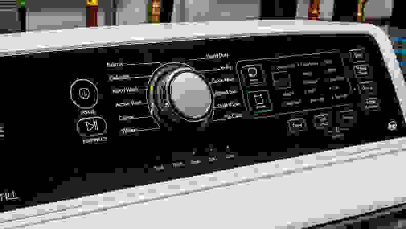 Frigidaire FFTW4120SW washing machine review — controls