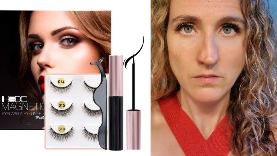 magnetic false eyelashes ad vs reality