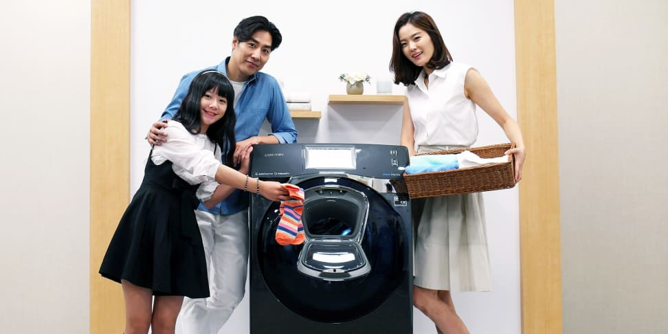 Samung AddWash lets you add items to a front-loader wash cycle after it's started