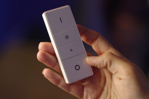 The Lightstrip Plus can be controlled with the app as well as the recently released dimmer switch.