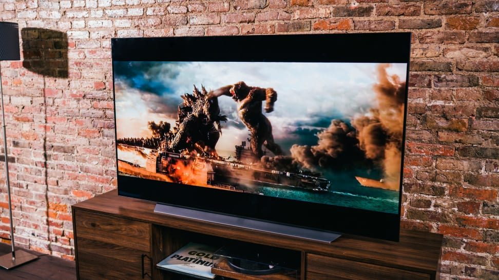 The LG C1 OLED displaying 4K/HDR content in a living room setting