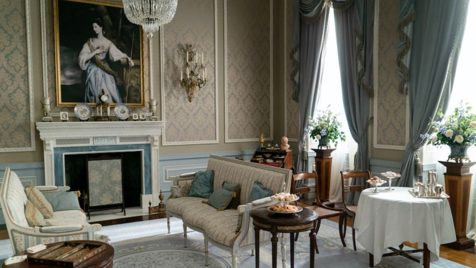 "This image from ""Bridgerton"" depicts Regency era home decor at its finest."
