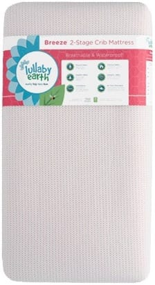 Product Image - Lullaby Earth Breeze Breathable 2-Stage Crib Mattress