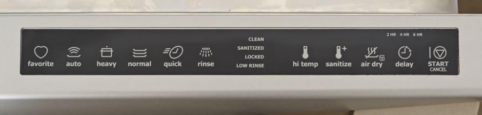 Electrolux EIDW6105GS Control Panel