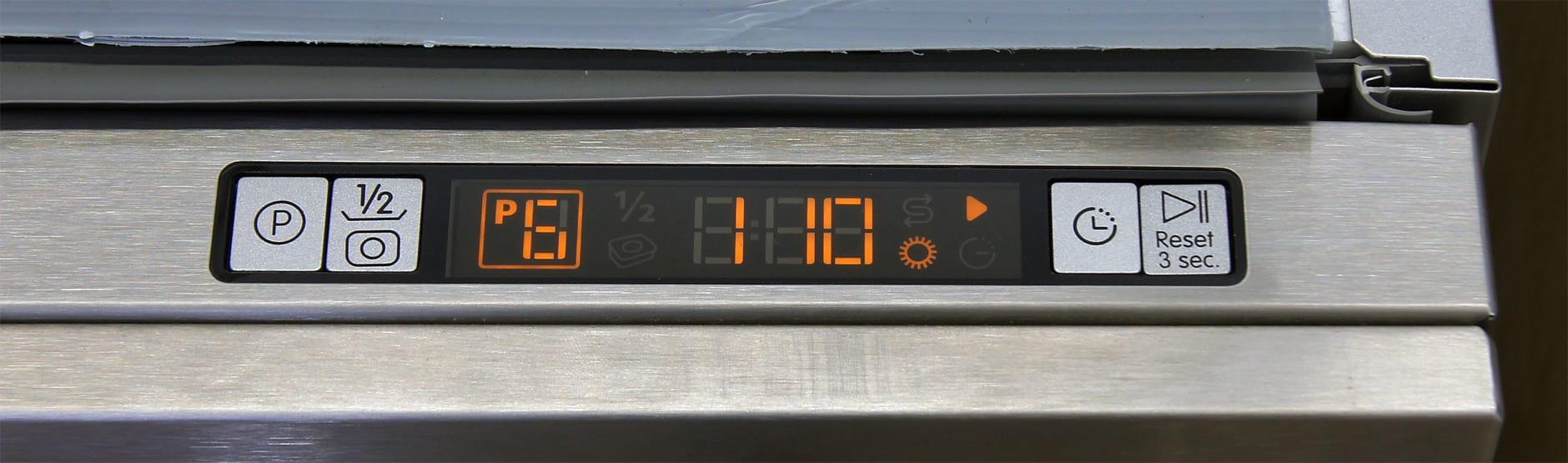Blomberg DWT57500SS control display