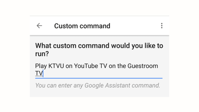 Google Home Custom Commands