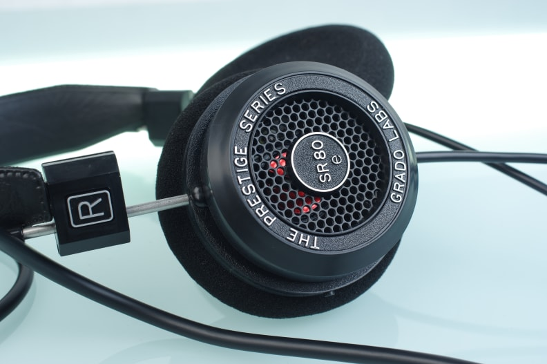 The Grado SR80e's open-backed design provides lots of space for sound, so that the audio is much more open and realistic than what you normally find on sub-$100 headphones.