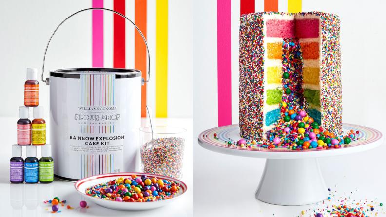 Flour Shop rainbow explosion cake
