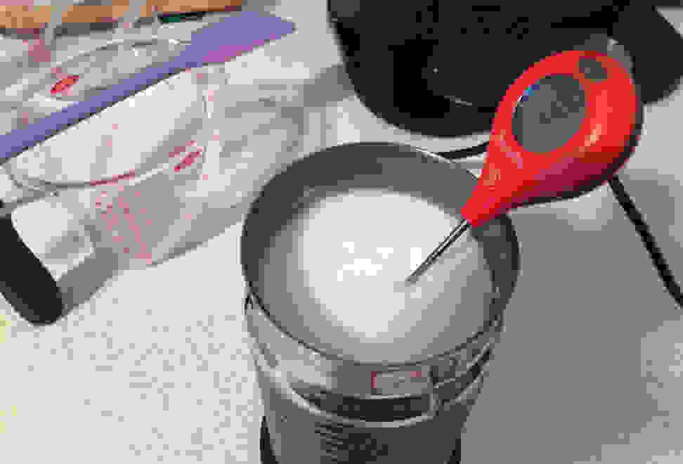 Testing milk temperature