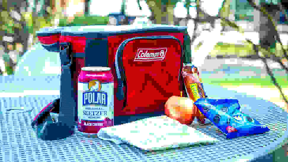 The Coleman 9-can Soft-Sided Cooler will keep your lunch cool.